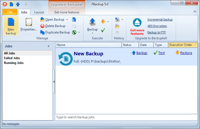 Software backup Fbackup