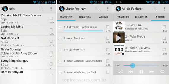 Music explorer android