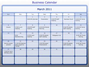 Calendario-Business Calendar