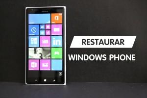 Como restaurar Windows Phone