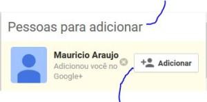 Google+ Adicionar Amigos
